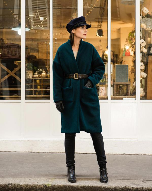 Manteau long ample femme
