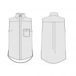 Orageuse, chemise Rome, version courte, options : poche boutonnée et dos pli plat