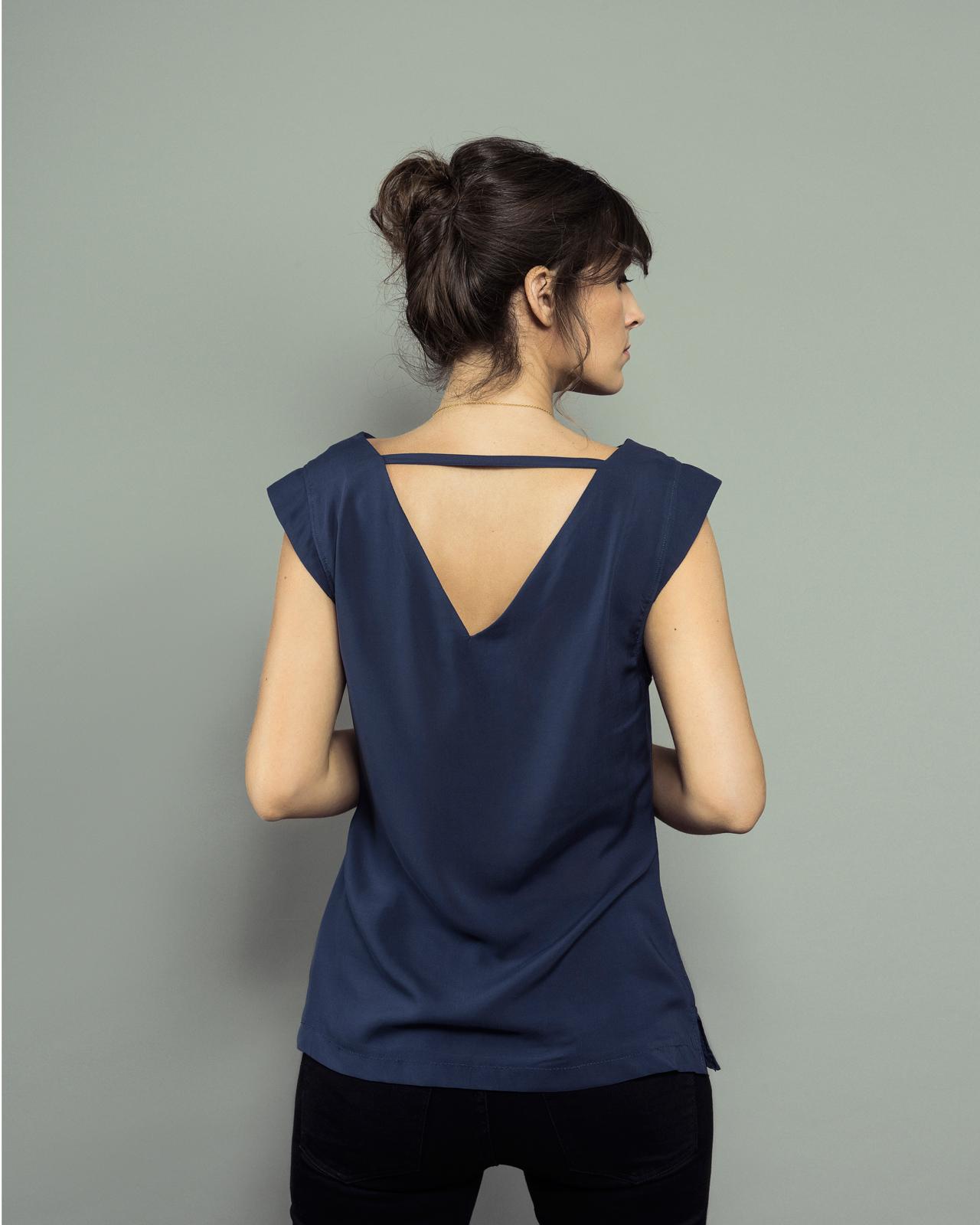 ORAGEUSE - Patrons de couture contemporains pour femme / contemporary sewing patterns for women - Top Lisbonne